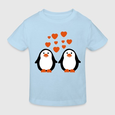 Penguins in Love - Kinderen Bio-T-shirt