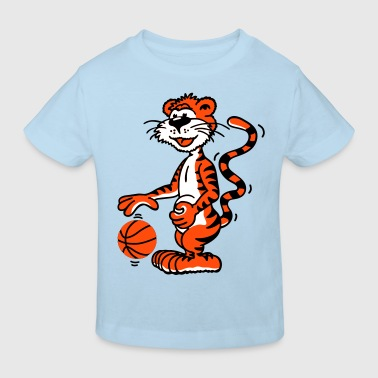 Basketballtiger - Kinder Bio-T-Shirt