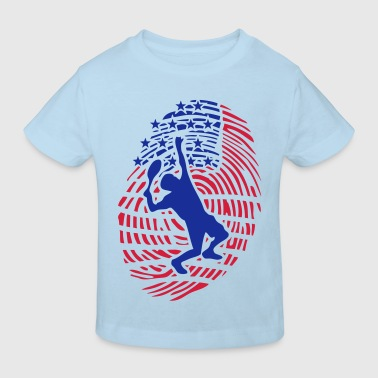 tennis empreinte digital americaine drap - T-shirt bio Enfant
