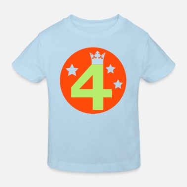 4 I am 4 years old! - Kids' Organic T-Shirt