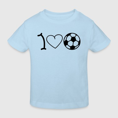 I love football - Ekologisk T-shirt barn