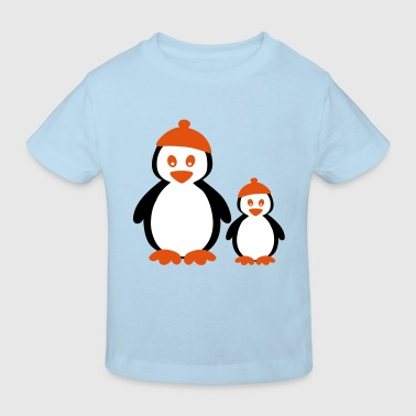 Penguins with Beanie - Kinderen Bio-T-shirt