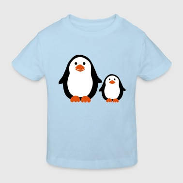 Penguin with Baby - Camiseta ecológica niño