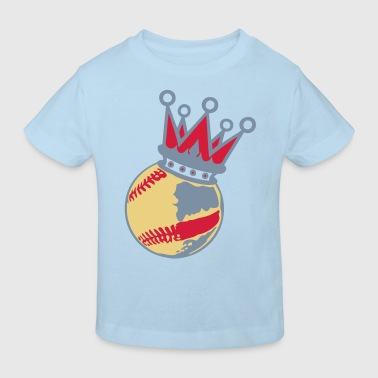 balle baseball couronne crown1 - T-shirt bio Enfant