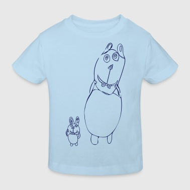 Big Brother, rabbit, kids image, hare, bunny - Kids' Organic T-shirt