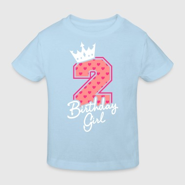 Zweiter Geburtstag-Second Birthday-Birthday Girl - Ekologisk T-shirt barn