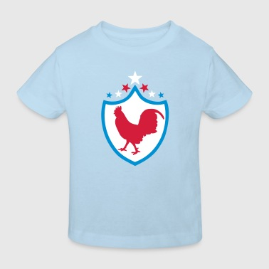 france foot supporter coq ecusson2 fanio - T-shirt bio Enfant