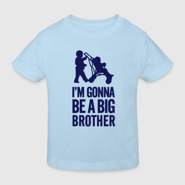 I'm gonna be a big brother baby car - Camiseta ecológica niño