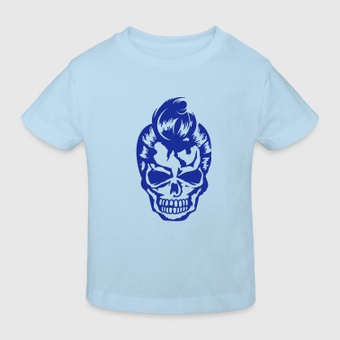 A skull  with 50s hairstyle - Kids' Organic T-shirt