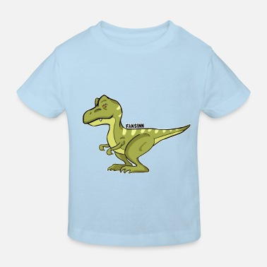 Picture T-Rex dinosaur meat cartoon kids gift - Kids' Organic T-Shirt
