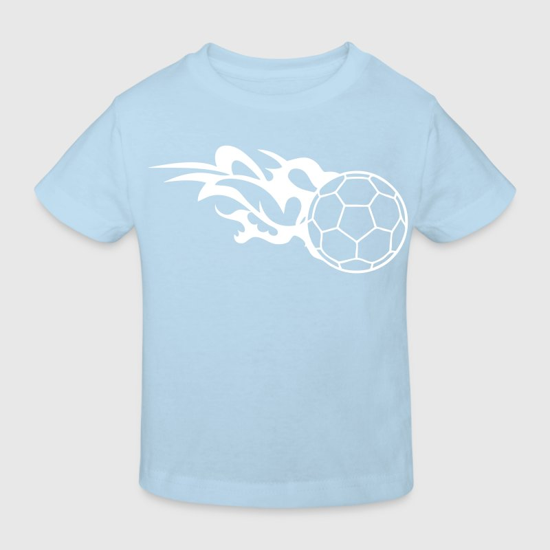 ballon handball flamme logo3 - T-shirt bio Enfant