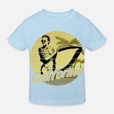 Los Angeles California Surfergirl Yellow - Kinder Bio T-Shirt