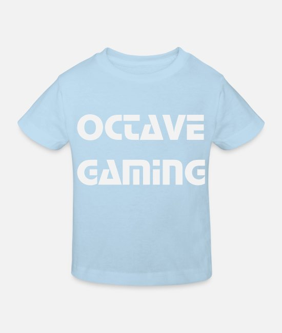 Game Baby Clothes - octave gaming - Kids' Organic T-Shirt light blue