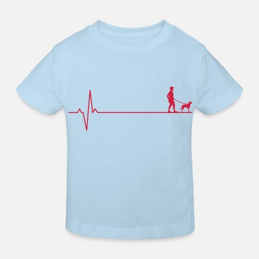 Dog heartbeat - Kids' Organic T-Shirt