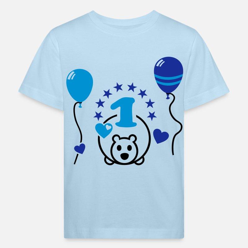 1 jahr alt erster geburtstag baby kind kleinkind kinder bio t shirt spreadshirt. Black Bedroom Furniture Sets. Home Design Ideas