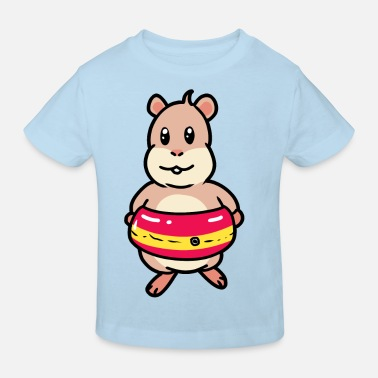 Vacation Swimming swimming hamster rodent swimming ring child - Kids' Organic T-Shirt