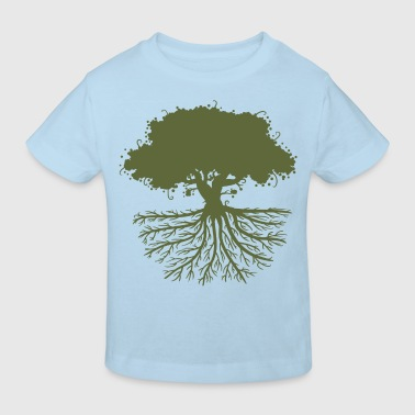 tree roots green - Kids' Organic T-Shirt