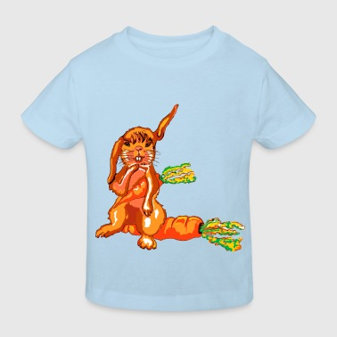 Hase und Möhren,Rabbit and carrots - Kids' Organic T-shirt