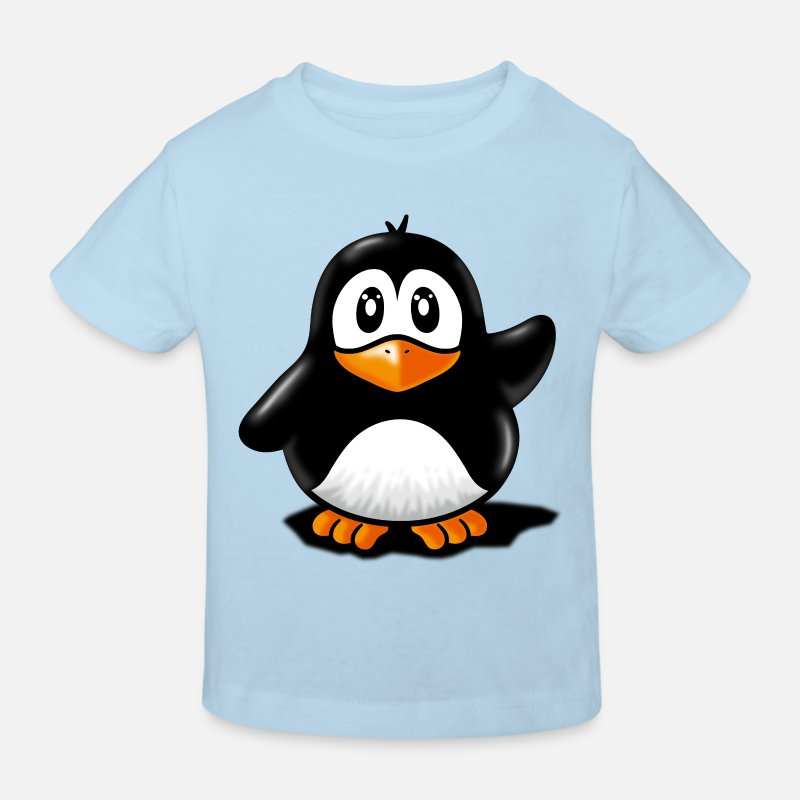 Pinguin T-Shirts - pinguin - Kinder Bio T-Shirt Hellblau