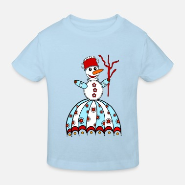 Aprèsski Snowman, winter, snow, children, baby, snowflake - Kids' Organic T-Shirt