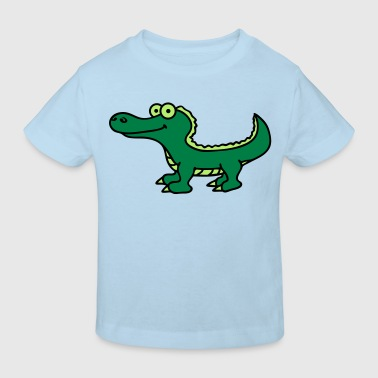 crocodile_3c - Kinder Bio-T-Shirt