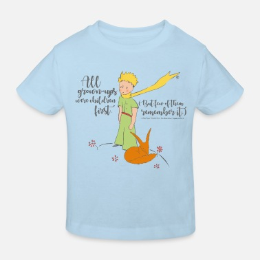 The Little Prince With Fox Quote Grown-Ups - Kids' Organic T-Shirt
