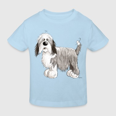 Der Bearded Collie - Kinder Bio-T-Shirt