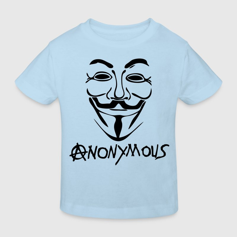 logo anarchy anonymous masque mask - T-shirt bio Enfant