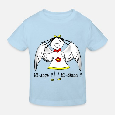 Ange mi_ange_mi_demon_fille - T-shirt bio Enfant