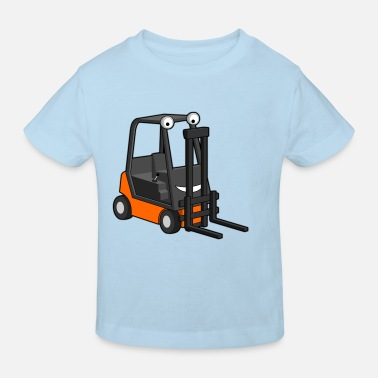 Stapler Happy Forklift - Kinder Bio-T-Shirt
