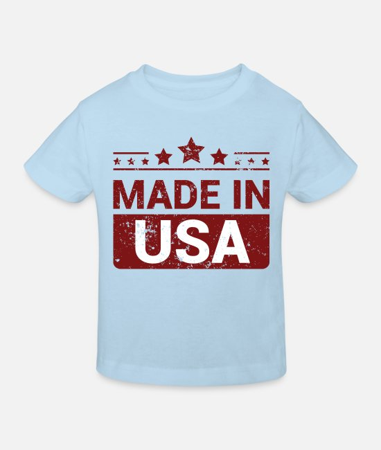 Usa Baby Clothes - Made in USA, vintage - Kids' Organic T-Shirt light blue