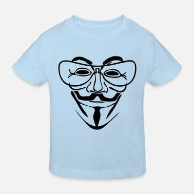 Mask anonymous masque mask lunette glass0 - T-shirt bio Enfant