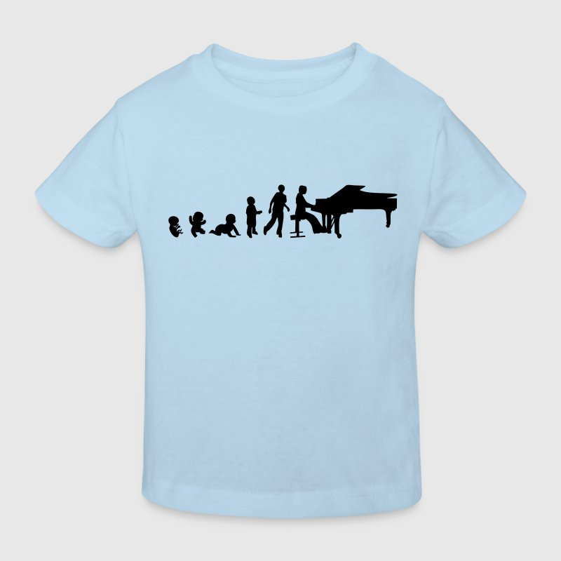 evolution homme pianiste piano1 - T-shirt bio Enfant