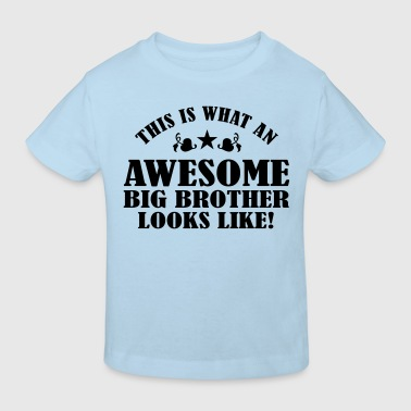 Awesome Big Brother Looks Like - Kids' Organic T-shirt