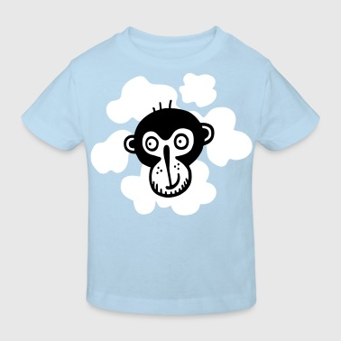 CHIMP LONGSLEEVE TEENIES BLUE - Kids' Organic T-Shirt