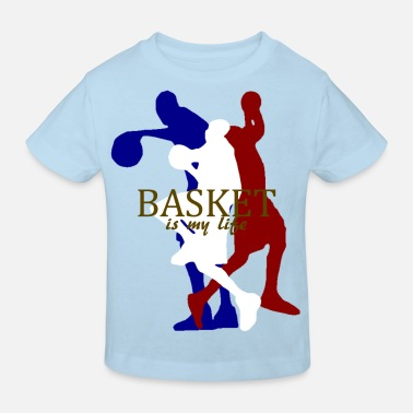 Basket basket is my life - Kinderen Bio-T-shirt