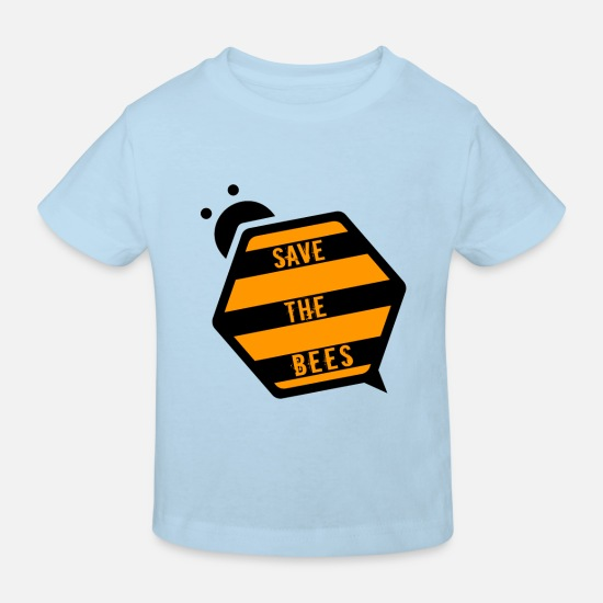 Waxe Baby Clothes - Bee bumble bee honey bee honey bee gift - Kids' Organic T-Shirt light blue