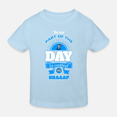motocross cycle day means best best part occupation - Kids' Organic T-Shirt