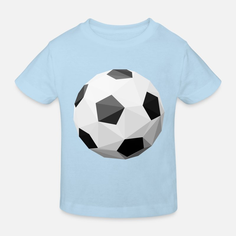 Soccer T-Shirts - Football polygon - Kids' Organic T-Shirt light blue