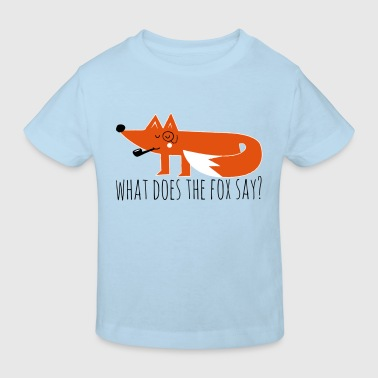 Trendy Swag Funny Hipster Swag Trendy comic cartoon Fox - Kids' Organic T-Shirt