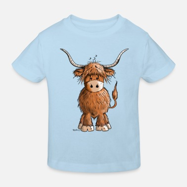 Cow Scottish Highland Cattle - Kids' Organic T-Shirt
