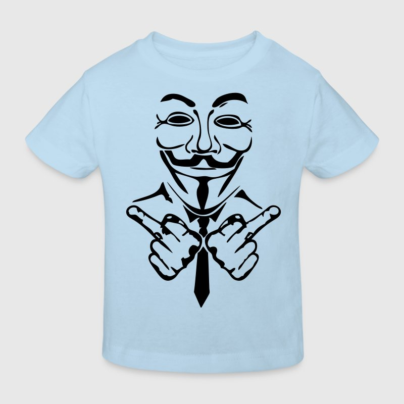 anonymous masque mask fuck3 - T-shirt bio Enfant