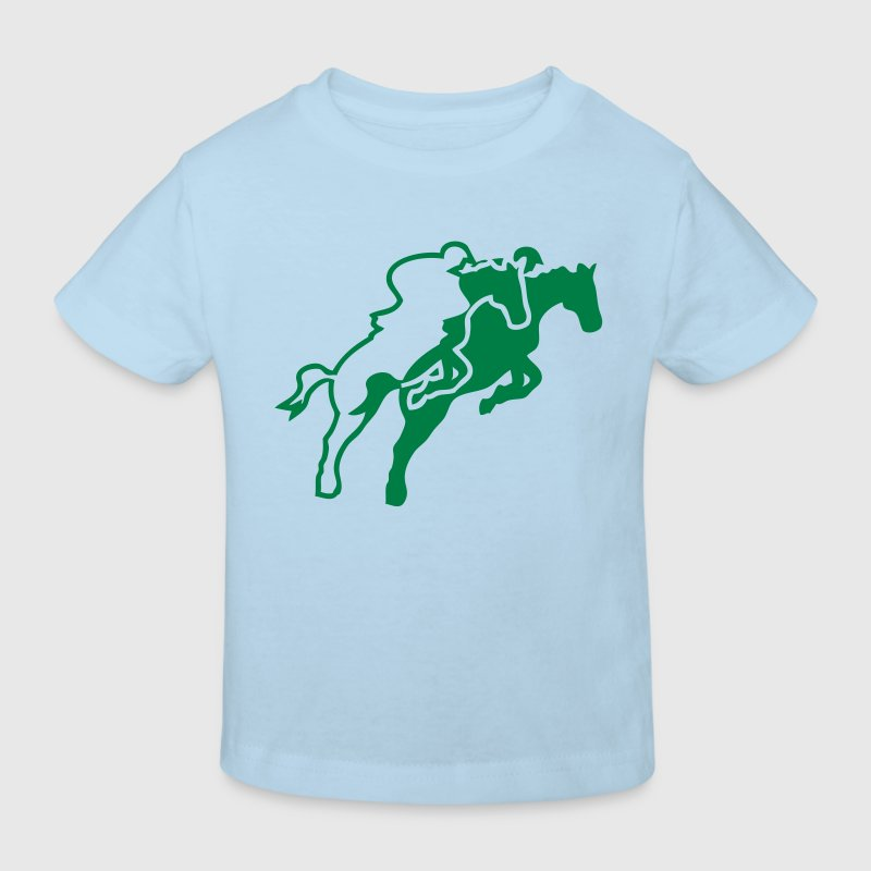 equitation48 cavalier1 cheval obstacle s - T-shirt bio Enfant