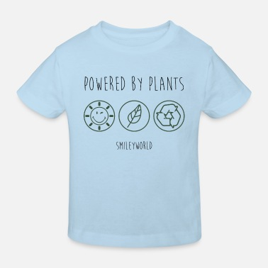 SmileyWorld Powered By Plants - Kinderen bio T-shirt