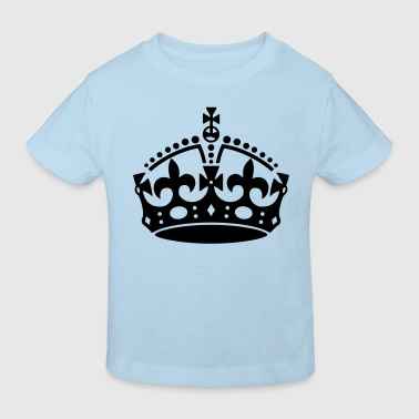 Keep Calm Crown - Kinderen Bio-T-shirt