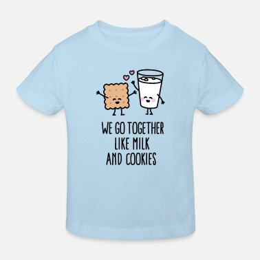 Milk We go together like milk and cookies - Kinderen Bio-T-shirt