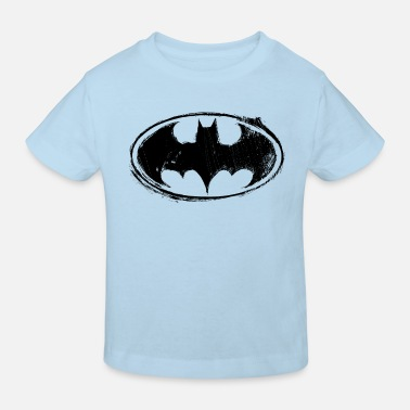 Superhelden Batman Logo black retro - Kinder Bio T-Shirt