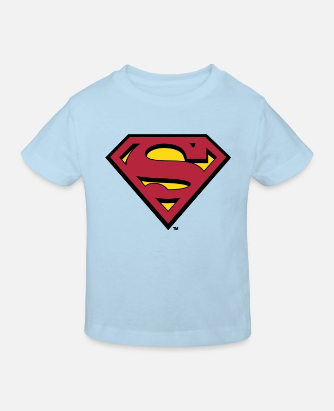 Movie T-shirts - Superman S-Shield Teenager's T-Shirt - Kinderen bio T-shirt celeste