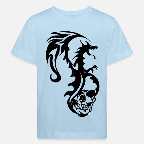 Dragon Tribal Tatouage dragon tribal tatouage tete mort1 kids' organic t-shirt | spreadshirt