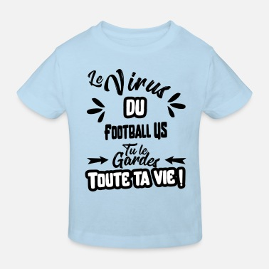 Us Le virus du Football US cadeau - T-shirt bio Enfant